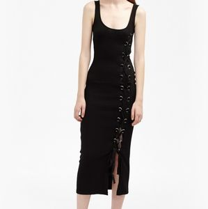 French connection lace up dress